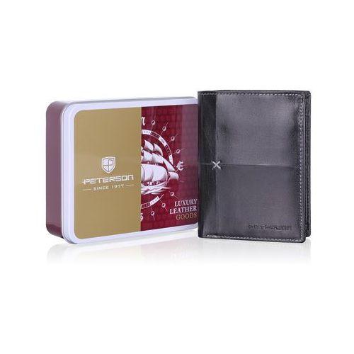 a965e6ed5c1e6 Modny skórzany portfel męski 4497 marki Peterson