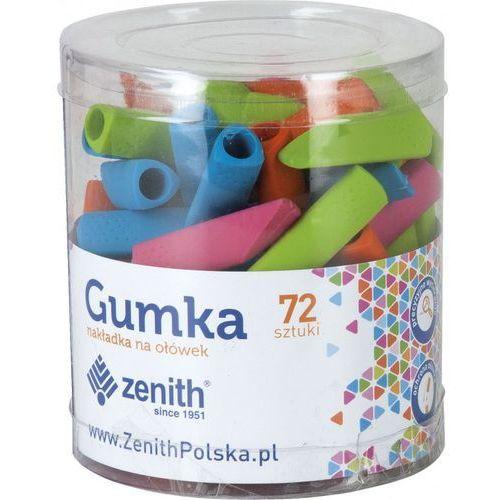 gumka nakładka na ołówek 2w1 mix drum 72szt marki Zenith