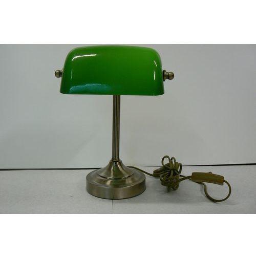 Lucide Lampa biurkowa banker green/bronze, 17504/01/03