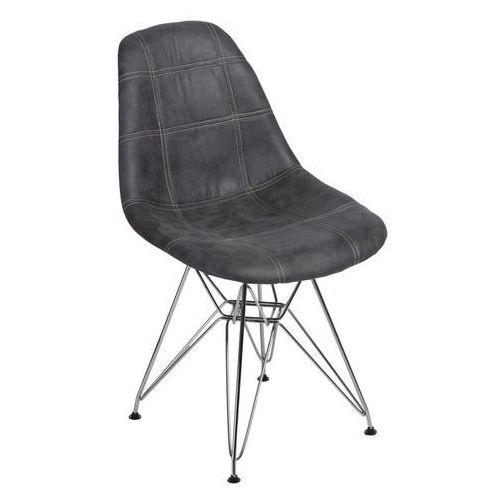 Krzesło P016 DSR Pico grafitowe, kolor szary