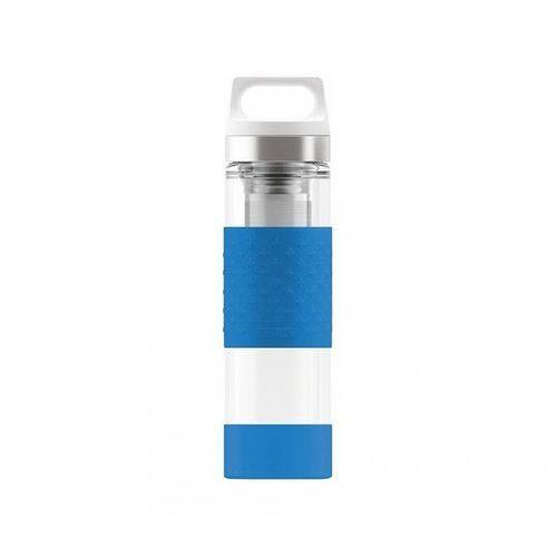 Termos szklany wmb z zaparzaczem hot & cold glass 400 ml (electric blue) marki Sigg