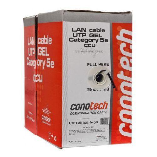 Kabel lan u/utp kat.5e uv żel, ilość - pull box (305m) marki Conotech
