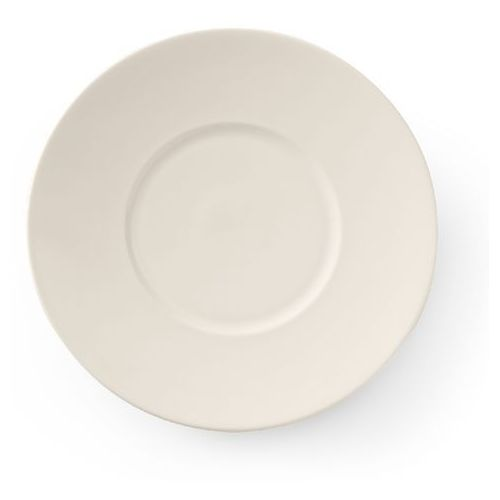 Talerz płytki porcelanowy z szerokim rantem crema marki Fine dine