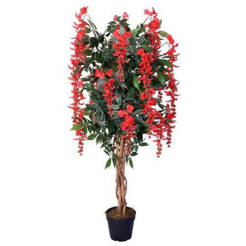 Sztuczne drzewko glicynia czerwona 125 cm kwiat marki Greentree