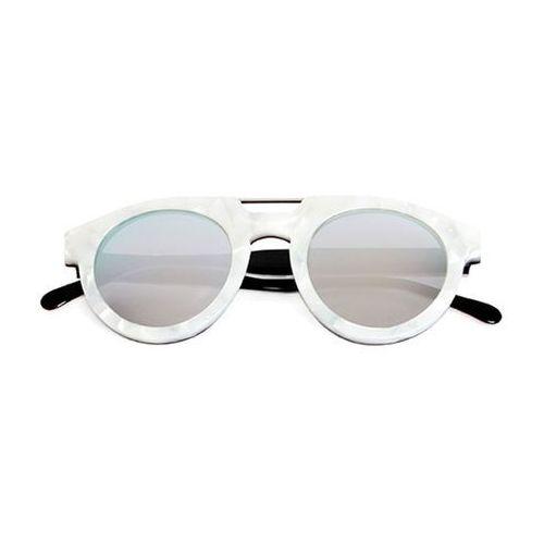 Spektre Okulary słoneczne doppio ponte dp05a/m. pearl/black (silver mirror)