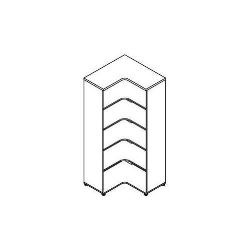Regał otwarty H05 wymiary: 80,2x80,2x183,3 cm - narożny