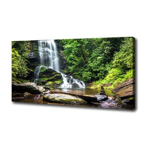 Foto obraz na płótnie Wodospad w lesie
