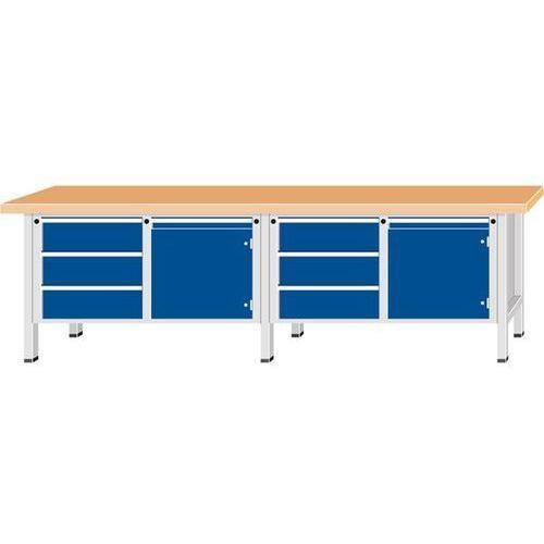 Stół warsztatowy, bardzo szeroki, 2 drzwi, 6 szuflad z częściowym wysunięciem, b marki Anke werkbänke - anton kessel