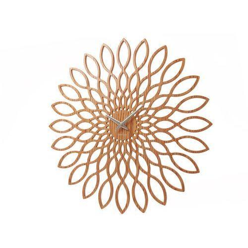 Karlsson :: zegar ścienny sunflower mdf drewniane wykonczenie - śr. 60cm \ drewno