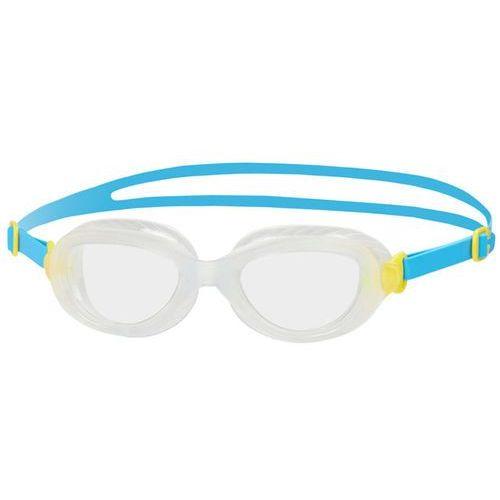 speedo Futura Biofuse Okulary pływackie Dzieci żółty/niebieski 2018 Okulary do pływania (5053744219998)