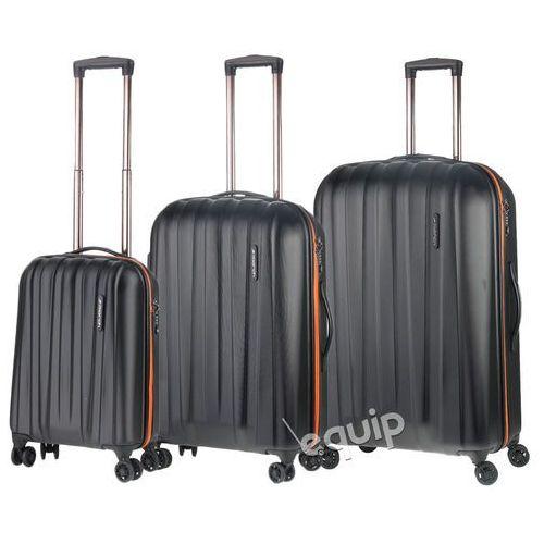Zestaw walizek March Rocky - czarny-pomarańcz, kup u jednego z partnerów