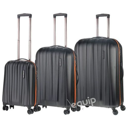 Zestaw walizek March Rocky - czarny-pomarańcz - produkt z kategorii- Torby i walizki