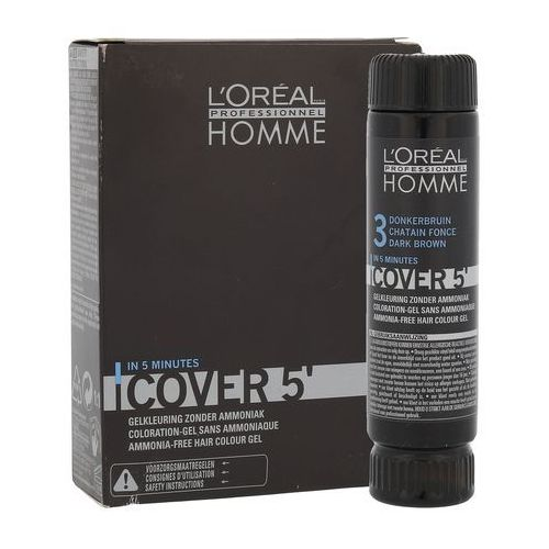 OKAZJA - L'Oréal Profesionnel Série Expert Homme Cover 3 Farba żel do koloryzacji włosów dla mężczyzn 50ml, 5834