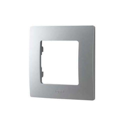 Ramka pojedyncza Legrand Niloe 397041 aluminium, kolor srebrny