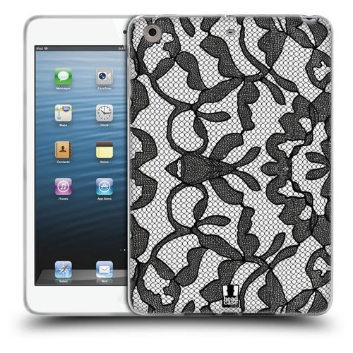 Head case Etui silikonowe na tablet - black lace leafy