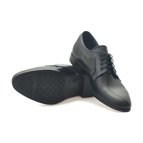 Pantofle Duo Men 064/GU Czarny/ niebieski lico, kolor niebieski