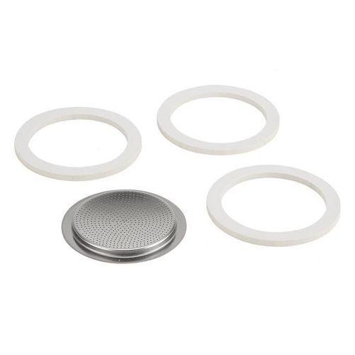 Bialetti 6t uszczelnienie gumowe i filtr ze stali nierdzewnej