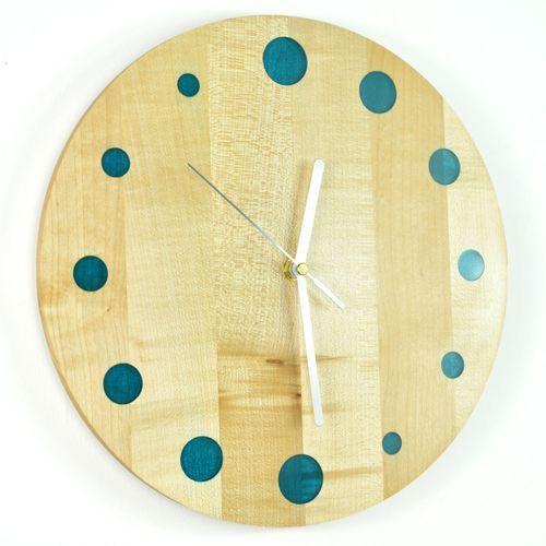 Epoxy clock - refill - zegar ścienny z żywicą jawor marki Woodwaycrafts