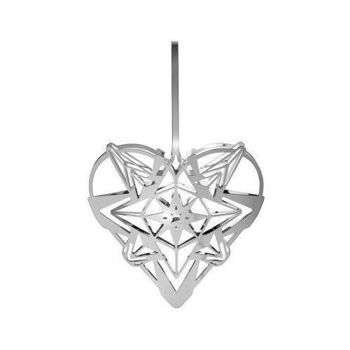 Ozdoba świąteczna serce Karen Blixen, srebrne, 13 cm - Rosendahl, 31352