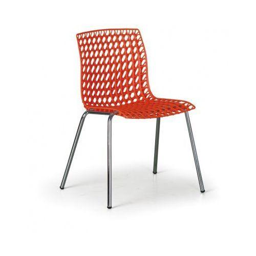 B2b partner Krzesło plastikowe perfo, pomarańczowe
