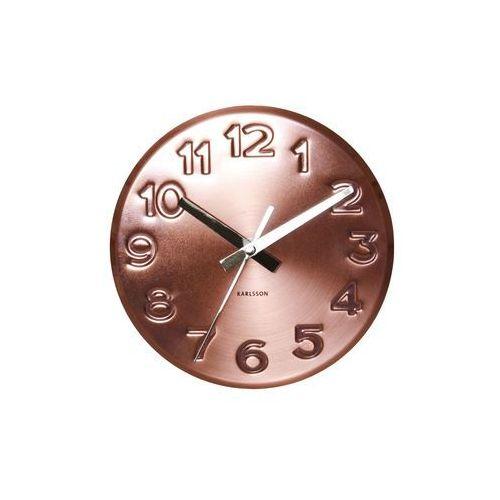Karlsson :: zegar ścienny bold engraved numbers steel cooper