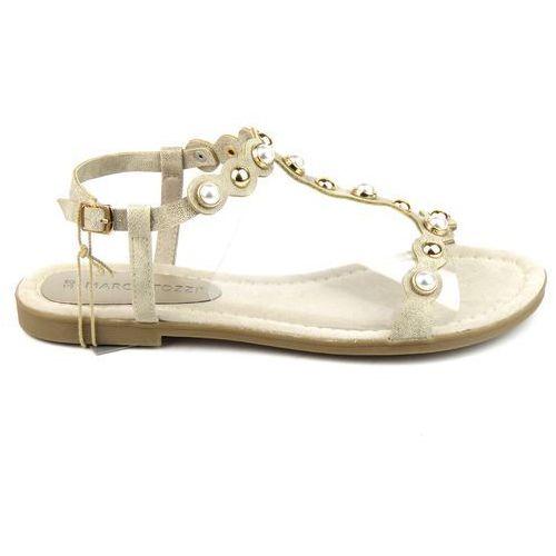 Sandały damskie Marco Tozzi 28113, kolor beżowy