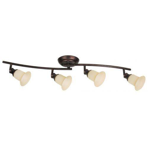 Listwa lampa sufitowa spot Rabalux Claire 4x40W E14 brązowa 6068 (5998250360683)