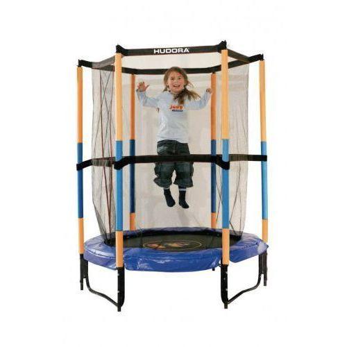 Hudora Trampolina 140 cm dla dzieci do pokoju bezpieczna niebiesko-żółta (4005998148396)