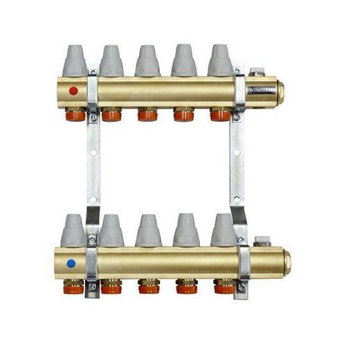 Altech rozdzielacz mosiężny z zaworami termostatycznymi i przepływomierzami 4 obwody (5902814629147)