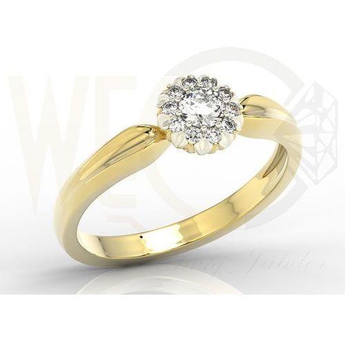 Pierścionek z żółtego i białego złota z diamentami AP-42B - Żółte i białe \ Diament