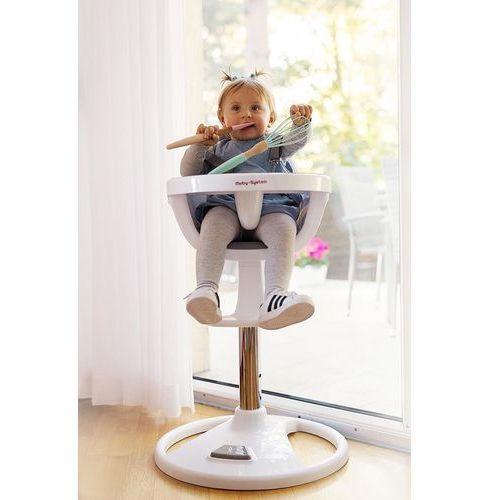 Wysokie obrotowe krzesełko do karmienia FLORA - szare (5907222954331)