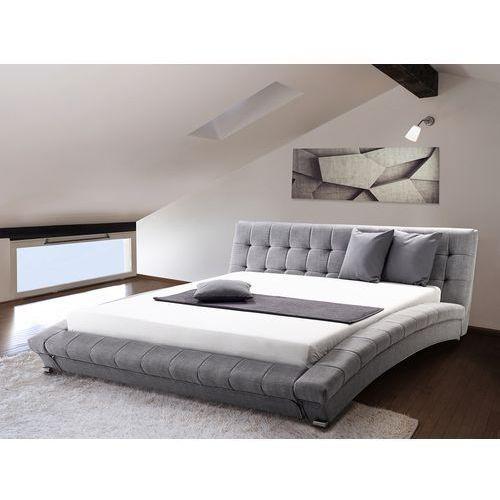Nowoczesne łóżko tapicerowane ze stelażem 180x200 cm - lille szare marki Beliani