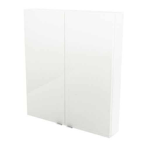 Goodhome Szafka wisząca imandra 80 x 90 x 15 cm biała