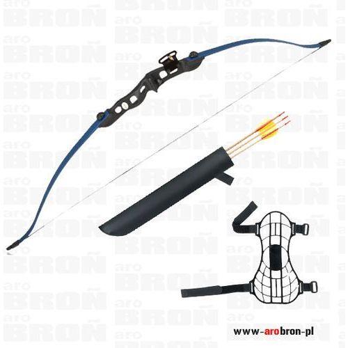 Łuk sportowy Eraser BEETLE BLUE - niebieski + kołczan i 3 strzały klasyczny, towar z kategorii: Łuki i akcesoria
