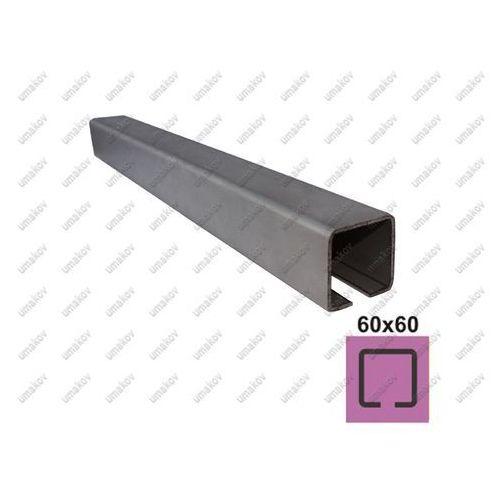 Profil do bramy przesuwnej INOX, 58x58x3mm, L3m