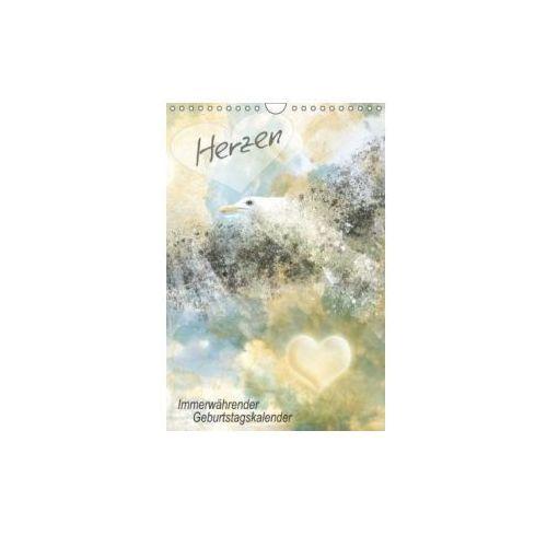 Herzen Immerwährender Geburtstagskalender (Wandkalender immerwährend DIN A4 hoch)