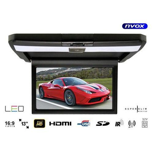 "Monitor samochodowy podwieszany podsufitowy LCD 13"" LED FULL HD HDMI USB SD IR FM 12V (5909182424190)"