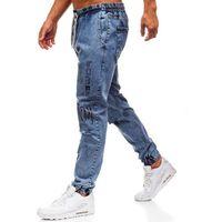 Spodnie jeansowe baggy męskie niebieskie denley 2037 marki Otantik