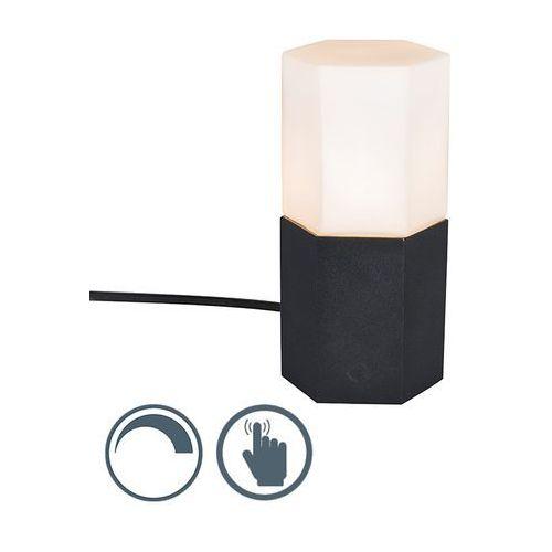 Qazqa Lampa stołowa hexagon czarna
