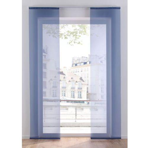 Prześwitująca zasłona panelowa, jednokolorowa (1 szt.) niebieski gołębi marki Bonprix
