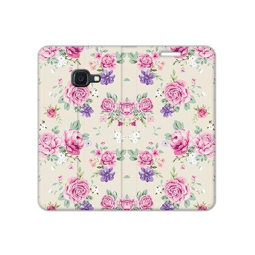 Samsung Galaxy Xcover 4S - etui na telefon Flex Book Fantastic - pastelowe różyczki, kolor różowy