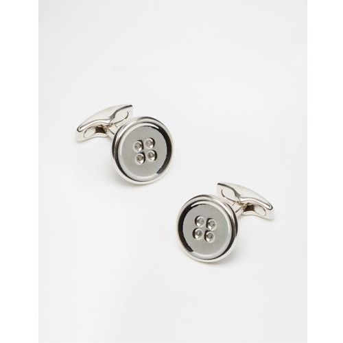 Simon carter button cufflinks - silver