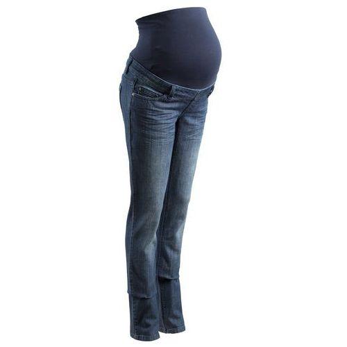 Spodnie dżinsowe ciążowe, proste nogawki (dł. T i N) bonprix ciemnoniebieski