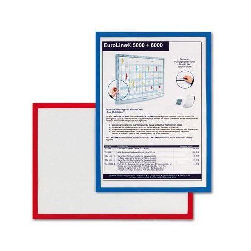 Ramka magnetyczna do tablic 2x3 - AS135B, A4 niebieska/czerwona
