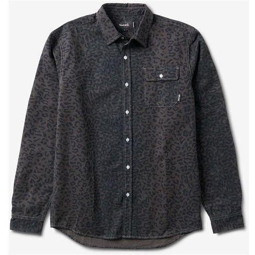 Diamond Koszula - cheetah l/s woven black (blk) rozmiar: m