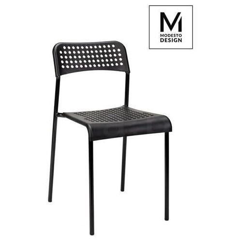 MODESTO krzesło DAVIS czarne - polipropylen, metal, kolor czarny