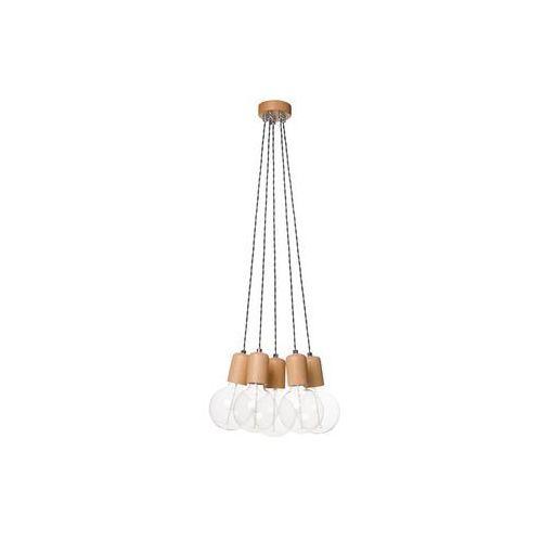 Lampex Lampa wisząca woody 5 dąb producent (5902622113753)
