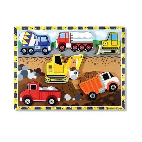 Melissa & doug Puzzle drewniane pojazdy budowlane 13726
