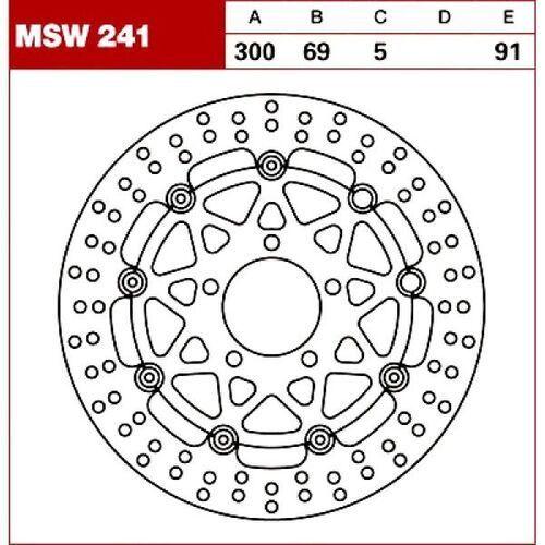 Trw tarcza hamulcowa msw241 suzuki gsx-r 750 600 1