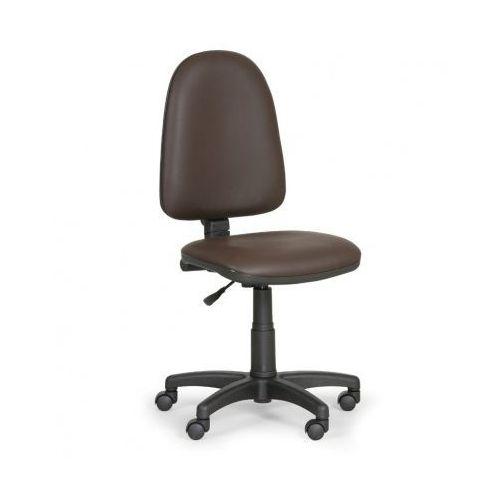 Euroseat Krzesło robocze torino bez podłokietników, brązowy